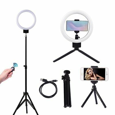 "9"" Dimmable LED Selfie Ring Light with 90cm stand for Makeup Youtube Live Photo"