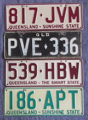QLD PASSENGERS x 4 LICENSE/NUMBER PLATES