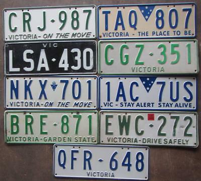 9 x VIC PASSENGER LICENSE/NUMBER PLATES