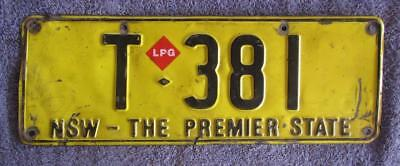 Premier State Taxi License/number Plate # T-381