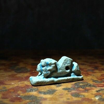 Egyptian Faience amulet, Lion,  26th-30th Dynasty , 664-332 BC
