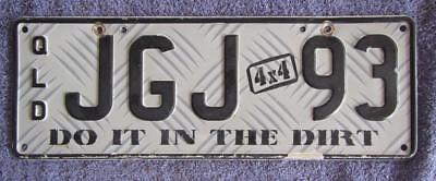 Do It In The Dirt Qld  License/number Plate # Jgj 93