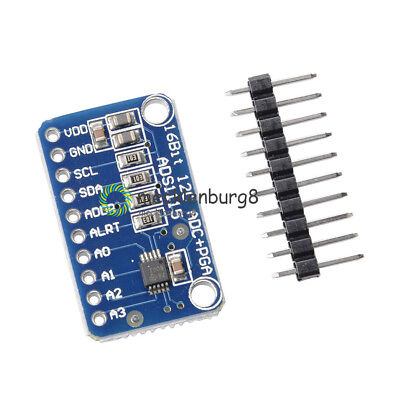 16 bit I2C ADS1115 4 Channel ADC module with Pro RPi Gain Amplifier for Arduino