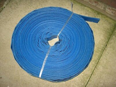 "1"" BLUE PVC LAYFLAT HOSE-WATER DISCHARGE PUMP / IRRIGATION 50m"