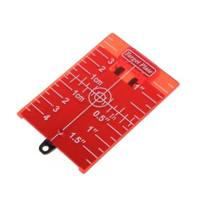 Magnetic Red Target Plate For Rotary Cross Line Laser Level Distance Measurer.