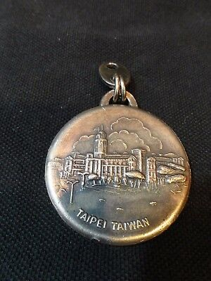 Vintage  Metal Olympic Hotel Taipei Taiwan Republic of China Key Ring FOB