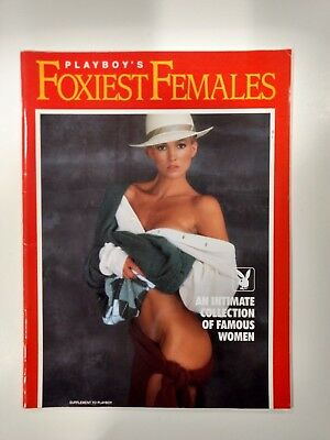 Playboy's Foxiest Females Magazine 1991 Intimate Collection Famous Woman  eb2303
