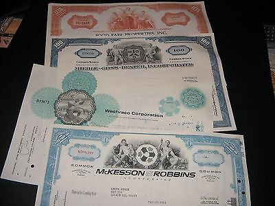 LOT OF ( 4 ) VINTAGE STOCK CERTIFICATES and10 BASEBALL CARDS