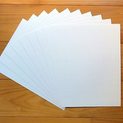 """PREMIUM BLANK 280 GSM A4 CARD x 10 SHEETS """"HAMMER WHITE"""" - NEW"""