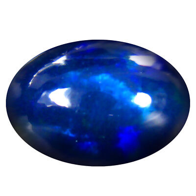 3.32 ct ULTRA RARE TOP LUSTER FLASHING NATURAL MULTI COLOR CABUCHON BLACK OPAL
