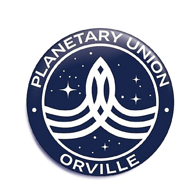 The Orville Planetary Union 58mm Button Badge