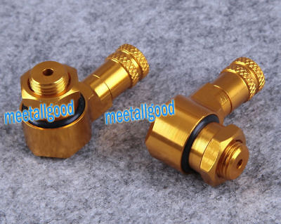 2PCS Aluminum Motorcycle Wheel Tire Valve Stems with Locking Nut Universal