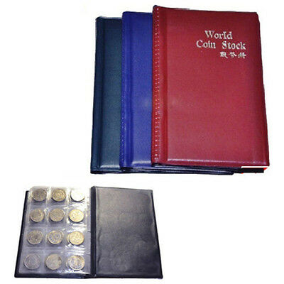 120 Coins Stock Collection Album Holder Money Penny Book Collecting Pockets AU*