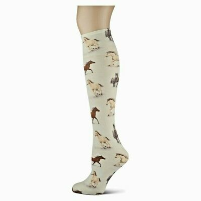 Horse Country Sox Trot Thin Knee High Socks New Adult Size 9-11 No Heel Fashion
