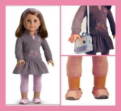 American Girl LICORICE PLAY OUTFIT + SHOES+ BOOK + BAG retired 2007 BRAND NEW