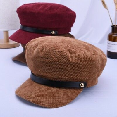 US Women Cotton Baker Boy Cap Newsboy Hat Cadet Patrol Octagonal Beret Cap
