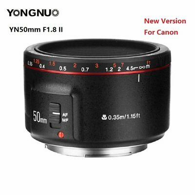 Yongnuo YN50mm F1.8 II MF AF Prime Lens Large Aperture Auto Focus Fit for Canon