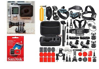 MINT GoPro HERO 4 Black Edition + Sports Accessory Kit Complete Bundle (50+ PCS)