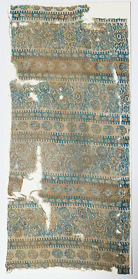 16-18C India Chintz(Printed Cotton) Textile Fragment - Flower Pattern