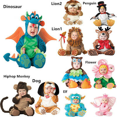 Halloween Costume Infant Baby Jumpsuit Plush Newborn Toddler Clothing Cosplay us
