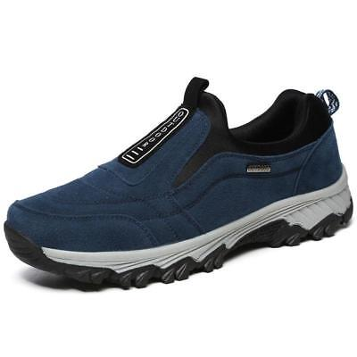Men's Casual Shoes Slip On Outdoor Sneakers Breathable Hiking Climbing Size US