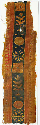 4-8C Ancient Coptic Textile Fragment-Part of Clothes,Tree Pattern,Christian Arts