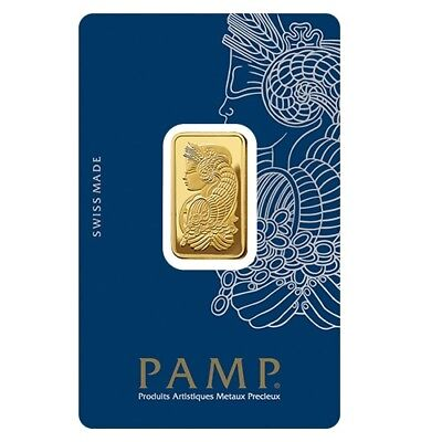 Lady Fortuna 10g .9999 Gold Minted Bullion Bar - PAMP Suisse