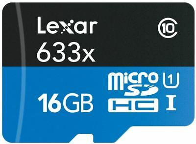 Lexar 16GB Mobile/Dashcam Memory Card Class 10 Micro SD  633x SDHC UHS-I 95MB/s
