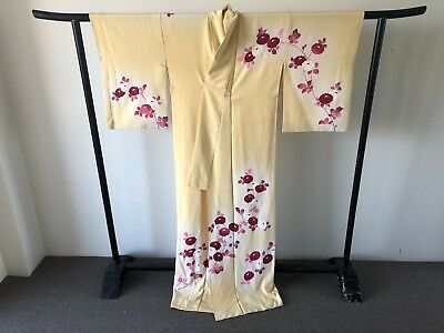 Women's Long Floral Silk Vintage Japanese Kimono One of a Kind Robe Art Deco
