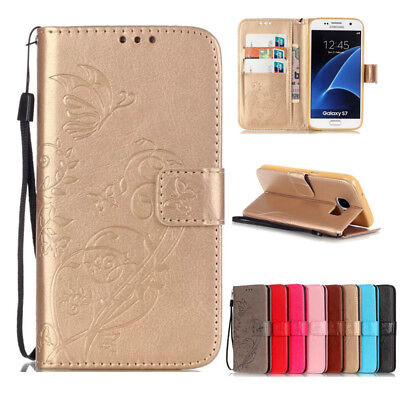 Magnetic Leather Card Slot Wallet Stand Flip Cover Case For Samsung Galaxy Phone