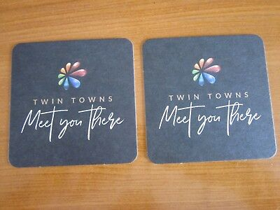 Twin Towns coasters (x2)