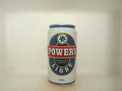 Power Light Empty Beer Can Blue Circle