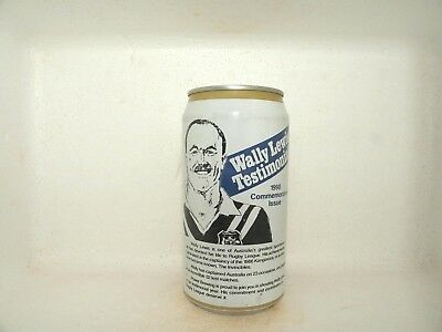 Powers Bitter 1990 Wally Lewis Testimonial Empty Beer Can Nrl Rugby