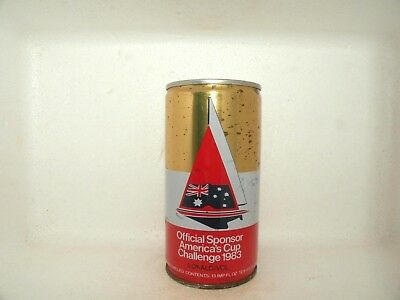 Swan Lager 1983 Americas Cup Logo Official Sponsor Crimped Steel Empty Beer Can