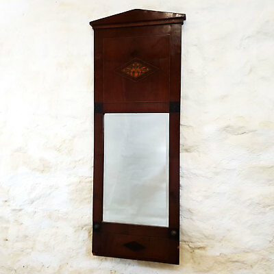 Regency Mahogany Marquetry Pier Glass Wall Mirror C1830 (Georgian Antique)