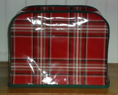 Green Edged Tartan OILCLOTH Cover for KENWOOD CHEF Food Mixers