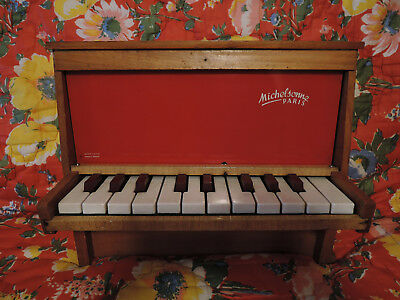 Piano jouet toy MICHELSONNE PARIS 20 touches rare instrument de musique - VIDEO