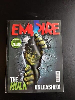 Empire Magazine, Amazing Worlds First 3D Cover! Hulk Unleashed! June 2008