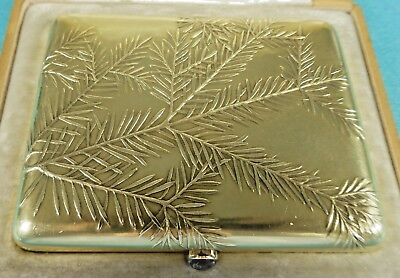 Russian Imperial Gold Cigarette Case By Carl Faberge Pine Sprigs Royal Gift 1900