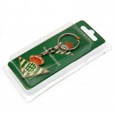 Real Betis Football Club Official Badge Crest Metal Key Ring Chain Charm