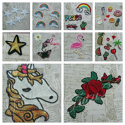 Applique Sew Iron On Patch Badge DIY Clothing bags Fabric Applique