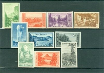USA 1934, very good Farley print imperf. set national parks, MNG