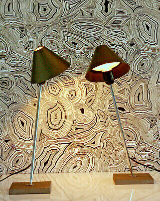 STYLE: pair of 2 lamps 70s 80s 2 x LAMPE ITALY 80er 70er MODERN HQ METAL CHROME