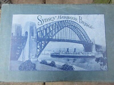 Sydney Harbour Bridge Old Pamphlet magazine illustration before construction