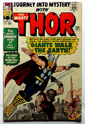 Marvel 1964 Journey Into Mystery #104 Mighty Thor (Vg-) Avengers Stan Lee Kirby