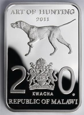 Malawi 2011 Art of Hunting - Duck Hunting 28.28 g Silver Proof Coin 20 Kwacha