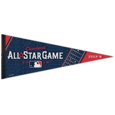 """Cleveland Indians 2019 All Star Game Premium Quality Pennant 12""""x30"""" Banner Mlb"""
