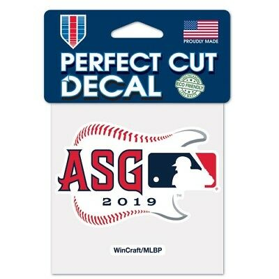 """CLEVELAND INDIANS 2019 ALL STAR GAME PERFECT CUT DECAL 4""""x4"""" CAR WINDOW MLB"""