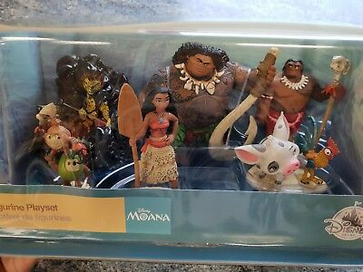 Official Disney Store Moana / Maui - 6 Figurine Set - Brand New In Box!