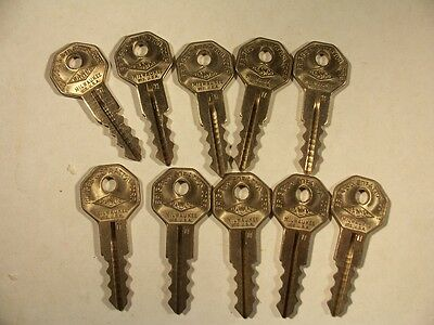 10 Keys  Basco  Briggs & Stratton  Nos  #11   1935   Key Blank  Uncut